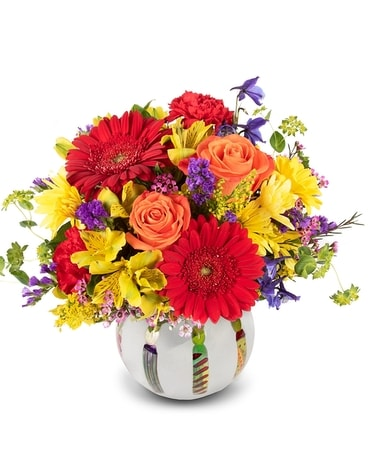 Bright Birthday Blooms Flower Arrangement