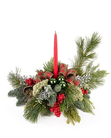 Holiday Homecoming Centerpiece Flower Arrangement