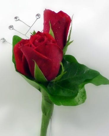 Red Rose Boutonniere Boutonniere