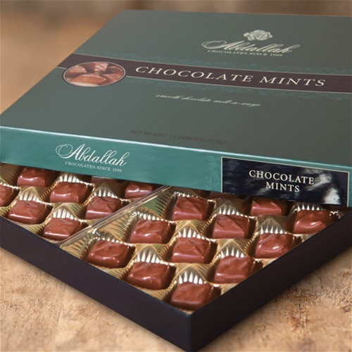 Box of Abdallah chocolate mints