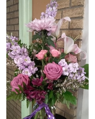 Luscious Lavender Flower Arrangement