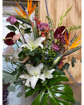 Tropics and Lillies Flower Arrangement