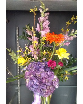Hint of Spring Flower Arrangement