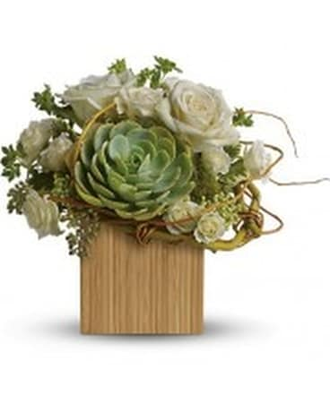 Succulents & Roses Flower Arrangement