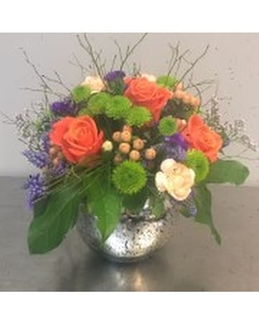 Sunny Bright Flower Bowl Flower Arrangement