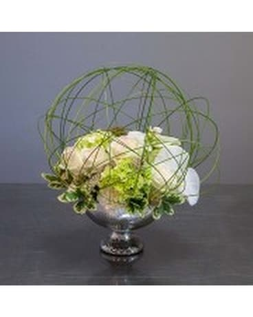 Modern Serene Sphere Flower Arrangement