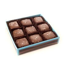 9-piece sea salt caramels, milk chocolate
