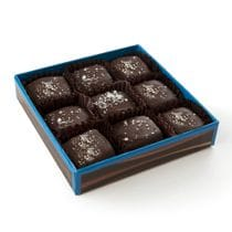 9-piece sea salt caramels, dark chocolate