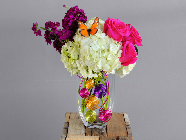 Mini Rainbow Flower Arrangement