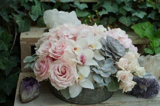Passionate Quartz Flower Arrangement