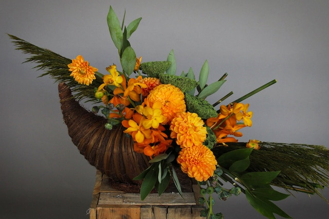 Golden Harvest Flower Arrangement