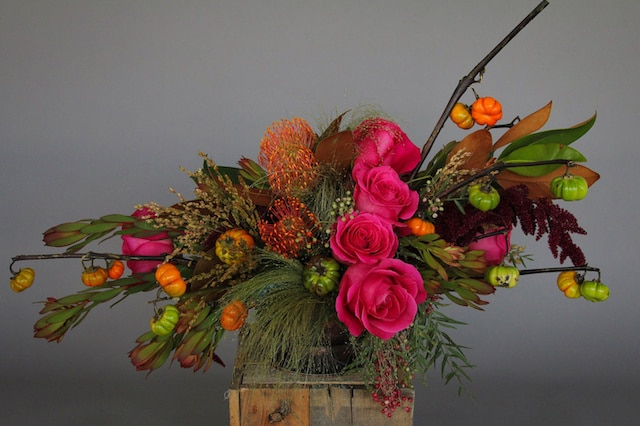 Bronzed Harvest Flower Arrangement