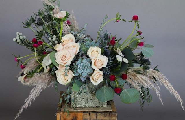 Winter's Dawn Flower Arrangement
