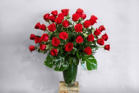 Three Dozen Roses Flower Arrangement
