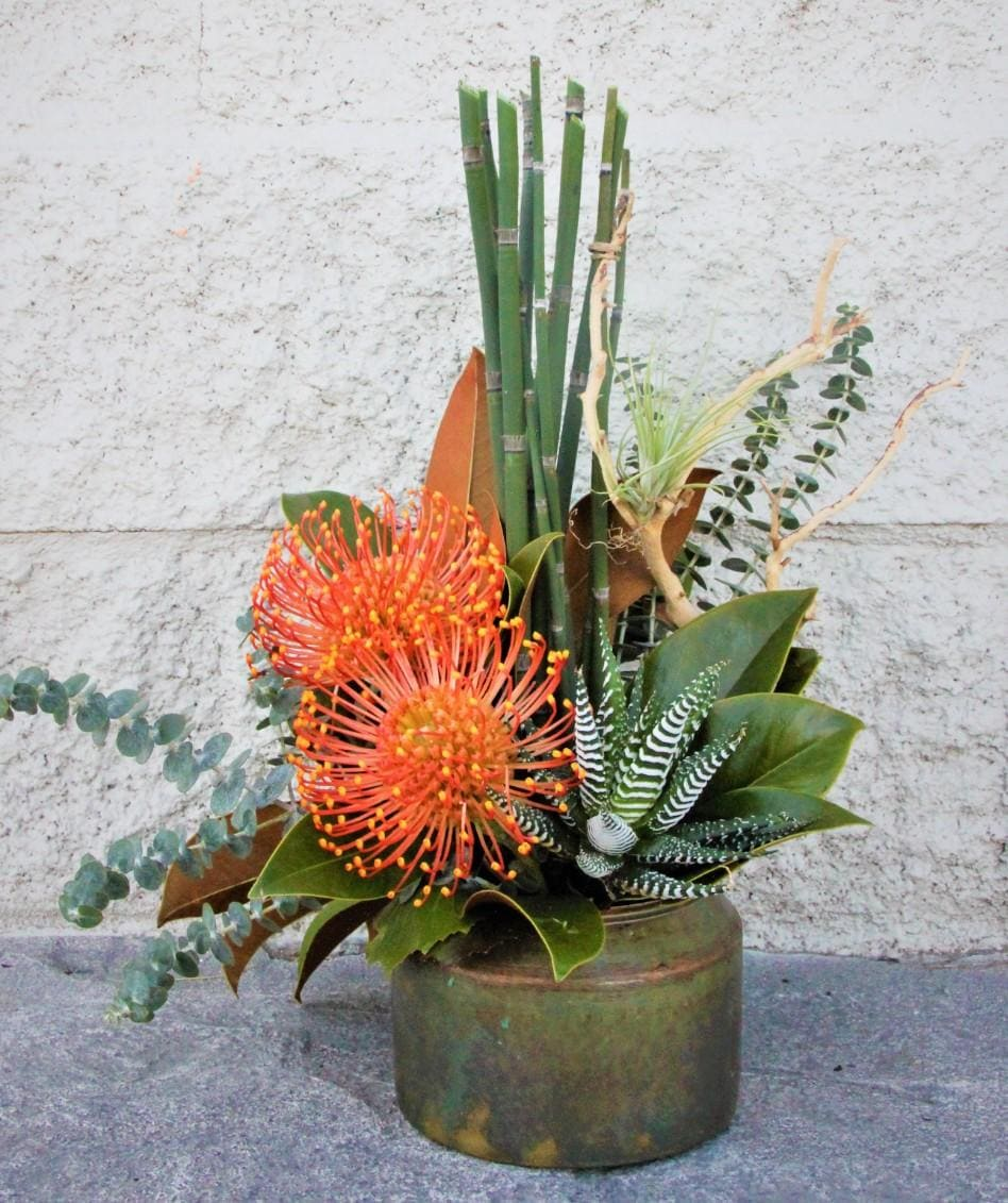 Copper Oasis Flower Arrangement