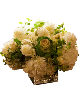 Solemn Purity Flower Arrangement