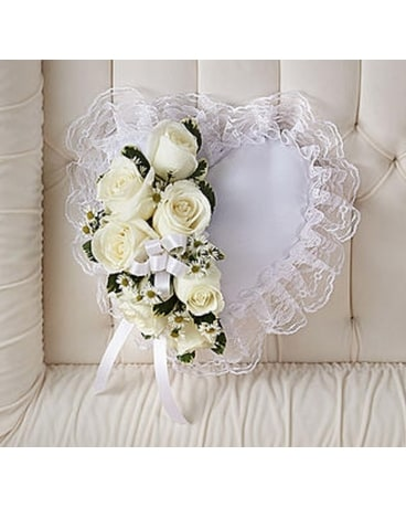 Heart Pillow Casket Insert Funeral Arrangement