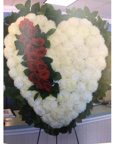 Towers Flowers Traditions Heart Funeral Arrangement