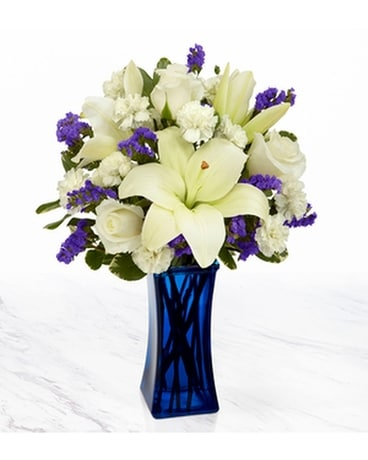 THE FTD® BEYOND BLUE™ BOUQUET Flower Arrangement