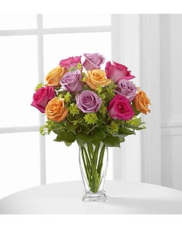 THE FTD® PURE ENCHANTMENT™ ROSE BOUQUET Flower Arrangement