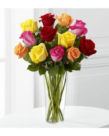 THE FTD® BRIGHT SPARK™ ROSE BOUQUET Flower Arrangement