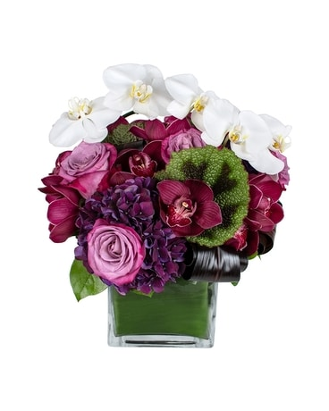 Passionate Plum Flower Arrangement