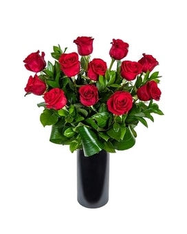 A Dozen Roses - Long Stem Flower Arrangement