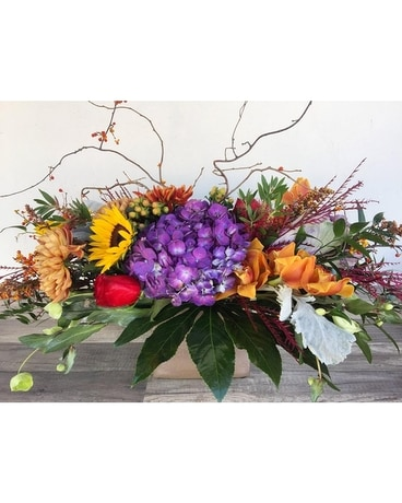 Glorious Autumnal Centerpiece Flower Arrangement
