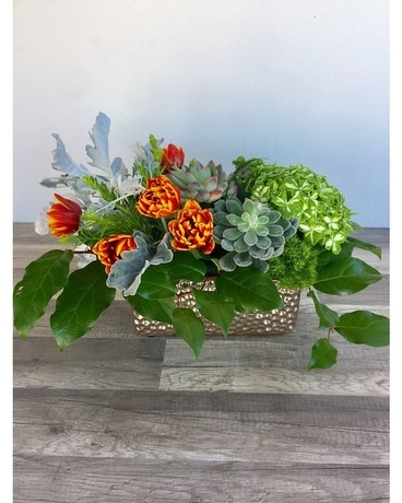 Cozy Cardigan Flower Arrangement