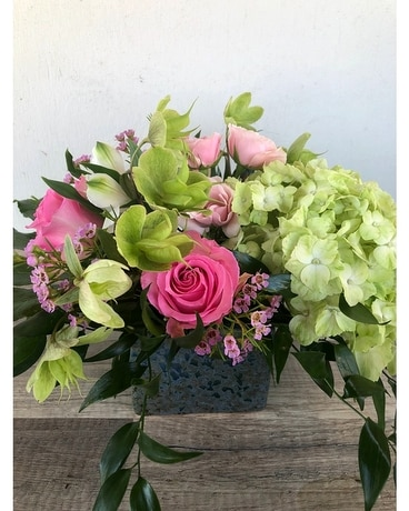 Fig Raspberry Flower Arrangement