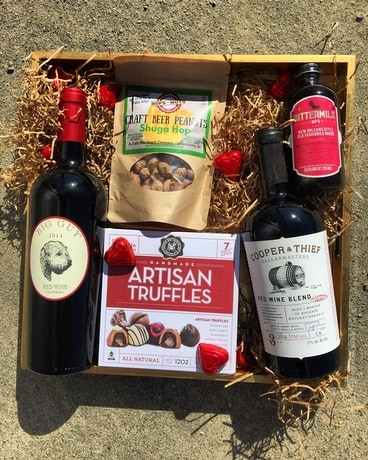 Just For Him:  Valentine's Day Gourmet Box Gift Basket