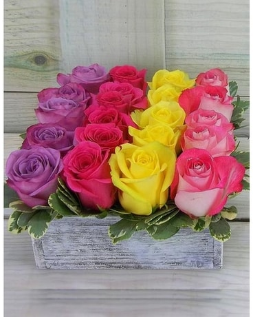 Rows of Roses Flower Arrangement