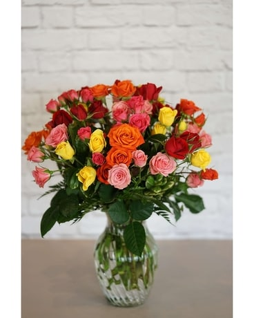 Spray of Roses Flower Arrangement