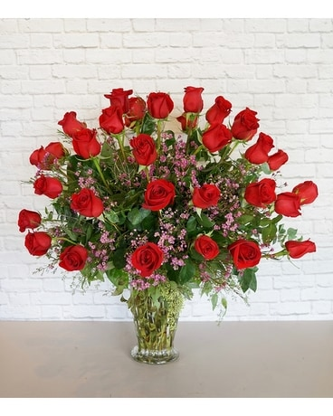 Three Dozen Premium Red Roses Flower Arrangement
