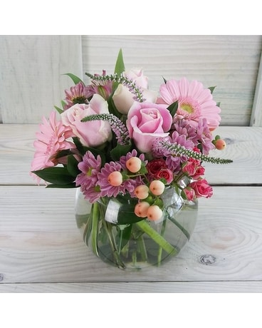 Pink Lemonade Flower Arrangement