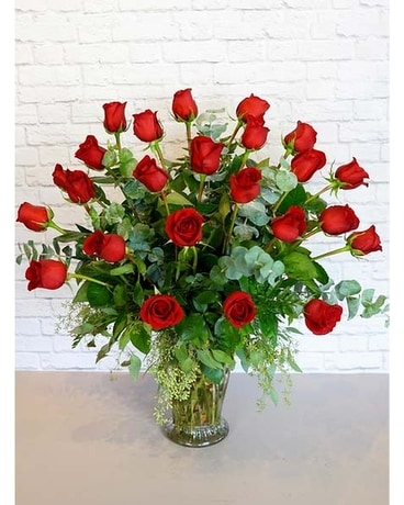 Two Dozen Premium Red Roses Flower Arrangement