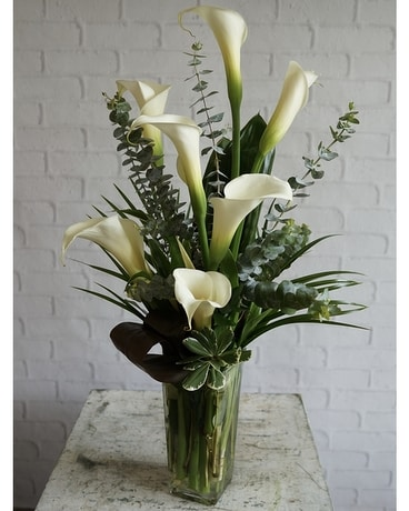 Callas Calling Flower Arrangement