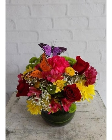 Precious with Butterflies Flower Arrangement