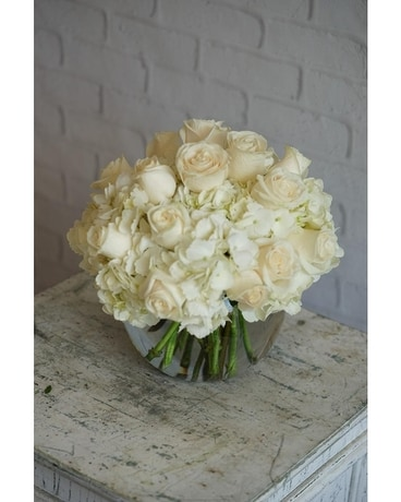 Blushing Ivory Flower Arrangement