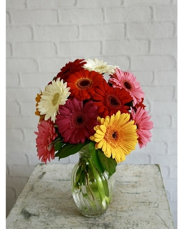 Happiest Gerberas Flower Arrangement