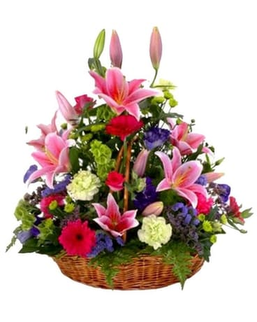 Abundance Basket Flower Arrangement