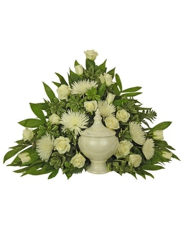 Simple Devotion Classic Cremation Setting Funeral Arrangement