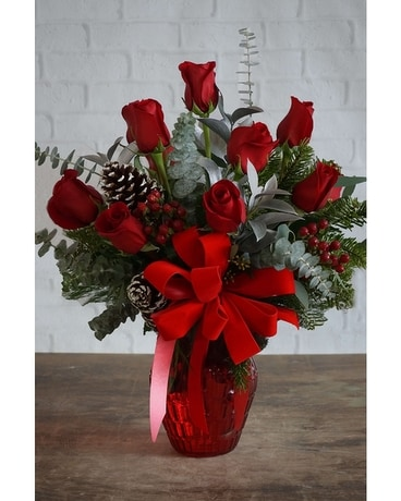 Yuletide Greetings Flower Arrangement