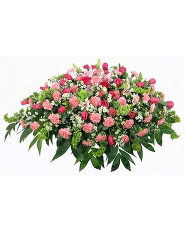 Love's Garden Deluxe Casket Spray Funeral Arrangement
