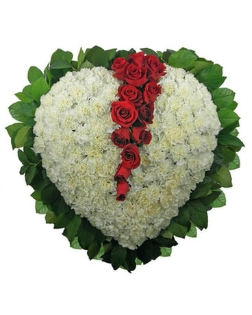 Signature Collection Broken Heart Set Piece Funeral Arrangement