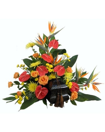 Tropical Paradise Cremation Setting Funeral Arrangement