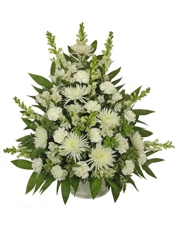 Simple Devotion Deluxe Basket Funeral Arrangement