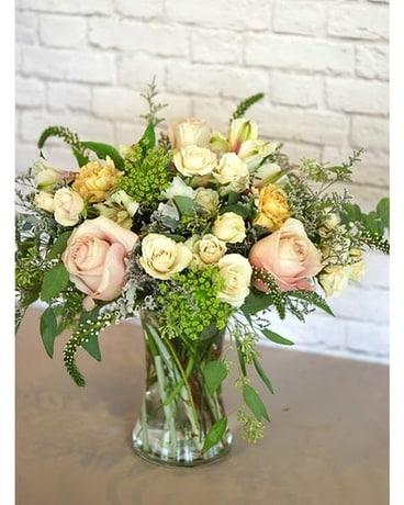 Pastel Romance Flower Arrangement