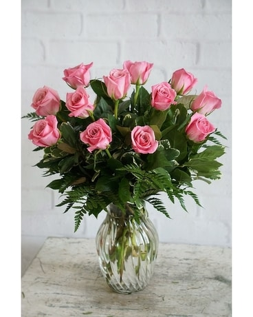 Roses delivery in raleigh nc fallons flowers think pink 5995 quick view rose garden flower arrangement mightylinksfo