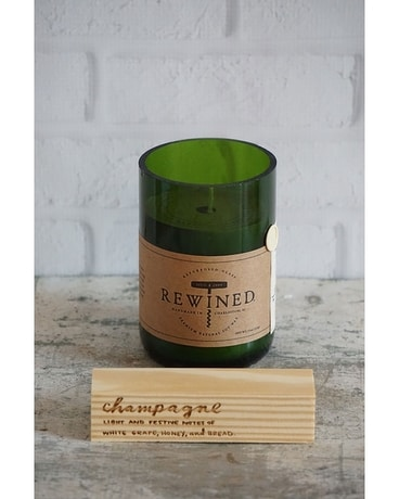 Rewined Champagne Candle Gifts